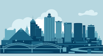 Wall Mural - Memphis Tennesse USA Skyline