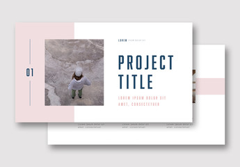 Presentation Layout with Pink Elements