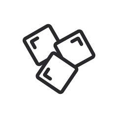 Ice vector icon in modern style for web site and mobile app