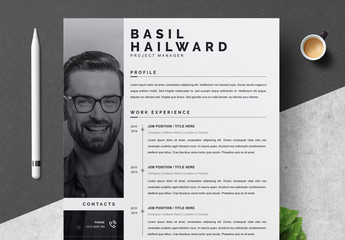 Resume Layout Set with Photo Sidebar