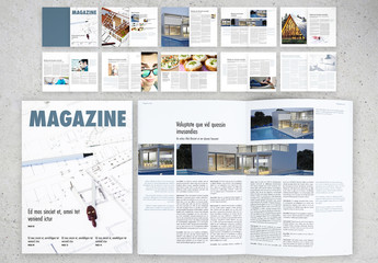 Minimalist Magazine Brochure Layout