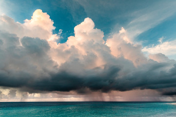 Tropical Strom over ocean, Maldives