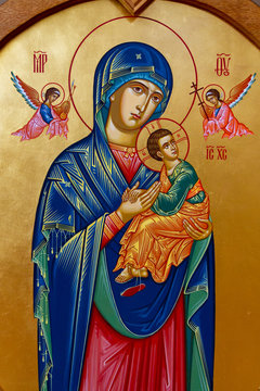 Vranov, Slovakia. 2019/8/22. Icon of the Mother of Perpetual Help. Convent of the Holy Trinity in Lomnica.