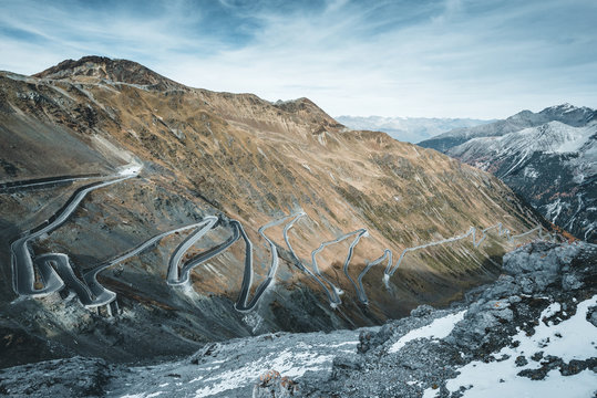 Stelvio Pass mountain road