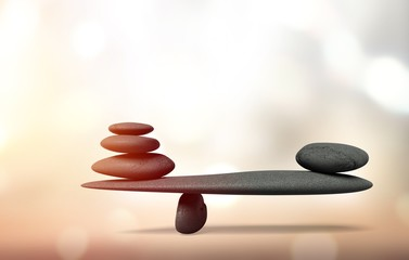 Photo sur Aluminium Zen Balance.