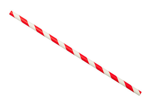 Red White Stripe Straw Cut Out