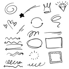 doodle infographic element illustration for your design or text vector