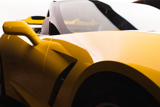 Yellow Corvette High key lighting