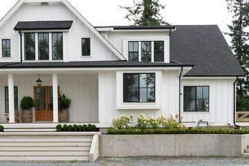 Upscale beach house in North America