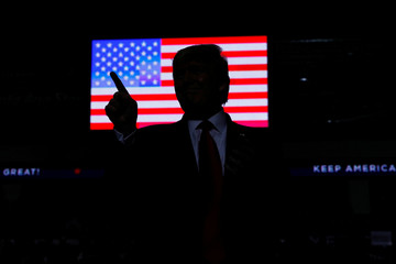 U.S. President Donald Trump hosts a Keep America Great rally at the Santa Ana Star Center in Rio Rancho, New Mexico