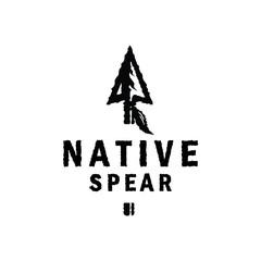 Native Retro Hunting Logo Design Inspiration with arrowhead