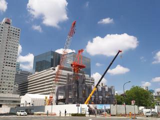 Fototapete - オフィスビルの建設現場