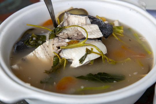 Popular filipino food Sinigang na Bangus