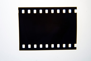 (35 mm.) film frame.With white space.film camera.