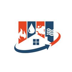 Obraz home restoration logo design a property maintenance house renovation icon vector - fototapety do salonu
