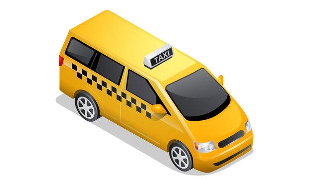 Isometric car icon isolated on white background