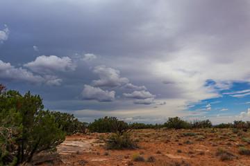 Arizona Desert Landscape before a monsoon storm