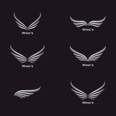 Wing vector icon illustration