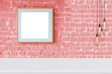colorful brick wall and interior design