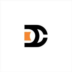 dc,cd letter logo vector icon lettermark sign