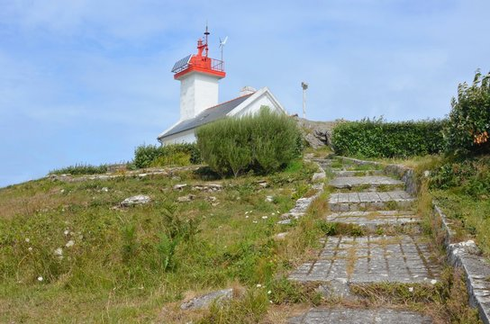 Phare de l'Aber Wrac'h, Finistère, Brittany, France