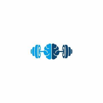 Jeninus Barbell Gym Fitness Logo Design Modern Template