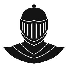 Knight helmet avatar icon. Simple illustration of knight helmet avatar vector icon for web design isolated on white background
