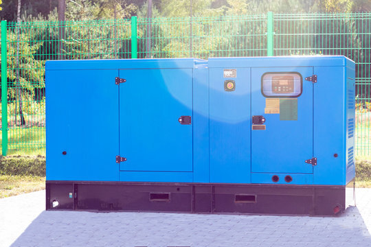 street lighting. industrial generator that generates current. reserve. there is tinting.