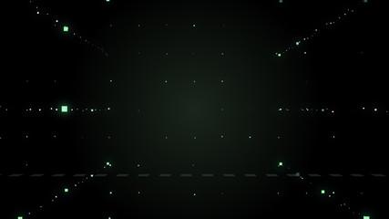 Virtual matrix background with the green symbols.
