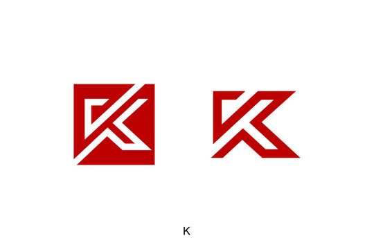 letter K concept, square with K vector icon ready to use