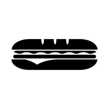 Sandwich icon, logo isolated on white background