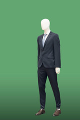 Full-length male mannequin.