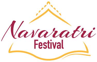 Navaratri logo design on white background