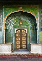 Green gate in Indian Palace
