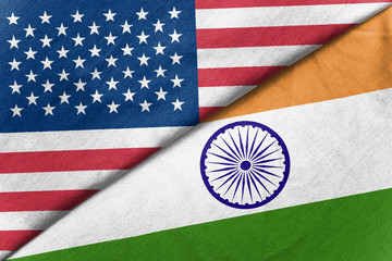 Relations between two countries. USA and India