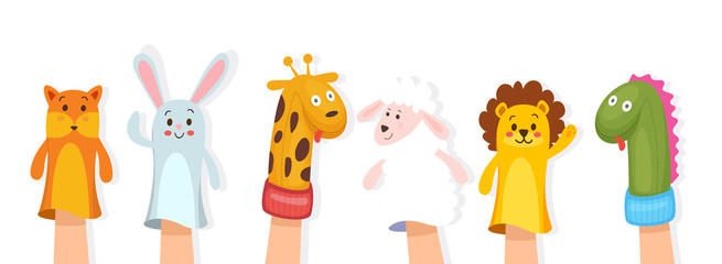 Set of hand puppets