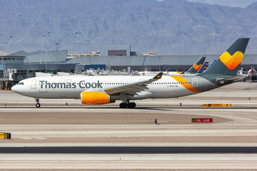 Thomas Cook Airlines Airbus A330-200 airplane Las Vegas airport