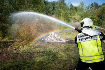 Brandangriff des Einsatzleiters der Feuerwehr
