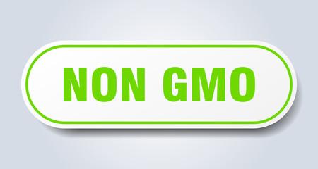 non gmo sign. non gmo rounded green sticker. non gmo