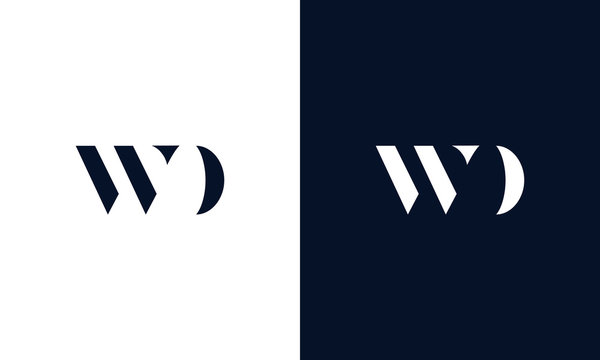 Abstract letter WD logo. This logo icon incorporate with abstract shape in the creative way.