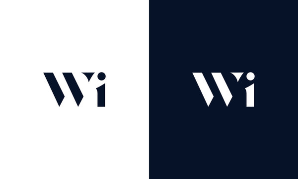 Abstract letter WI logo. This logo icon incorporate with abstract shape in the creative way.