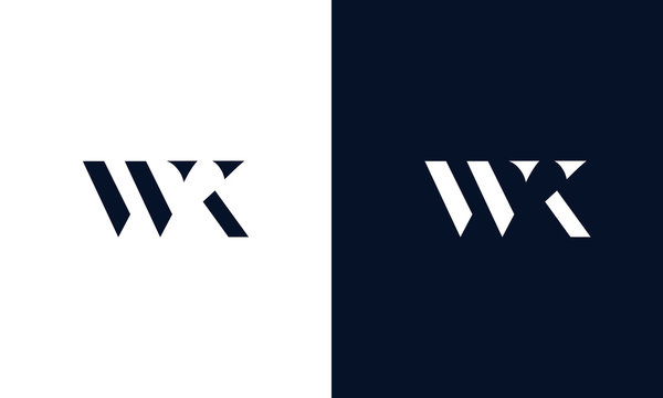Abstract letter WK logo. This logo icon incorporate with abstract shape in the creative way.