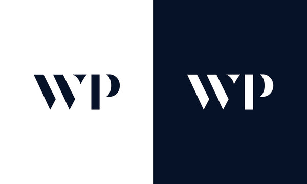 Abstract letter WP logo. This logo icon incorporate with abstract shape in the creative way.