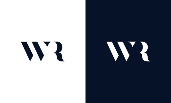 Abstract letter WR logo. This logo icon incorporate with abstract shape in the creative way.