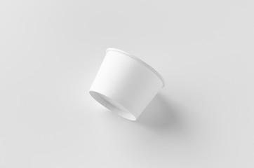 White ice cream paper cup mockup.