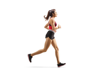 Female athlete jogging