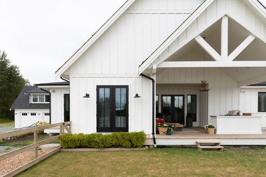 North American upscale suburban home