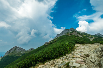 Giewont peak, Tatra mountains, National Park, Poland. It is visible from Zakopane, the most popular resorts in Poland.