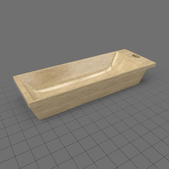 Kneading trough