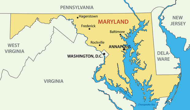 Maryland - vector - state of USA